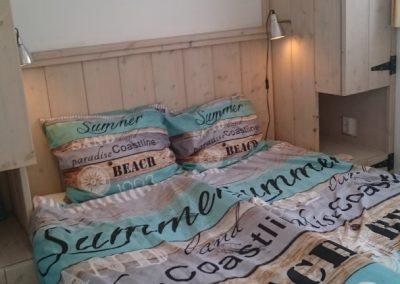 Boswei slaapkamer 1 met steigerhouten bed