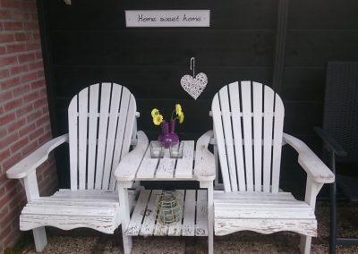 Boswei zithoek terras stoelen